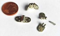 Miniatur-Scharniere, mini micro 2 Paare, Brillenscharniere Schraubscharniere 6mm