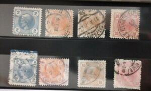 Lotto AUSTRIA 1899/ FRANCOBOLLI PER GIORNALI, SERIE 8 VALORI USATI 2 Varietà