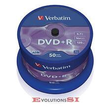 50 VERBATIM DVD +R 16X 4.7GB ENVIO URGENTE TARRINA DVD+R ORIGINALES NO 100 200-