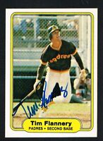 Tim Flannery #572 signed autograph auto 1982 Fleer Baseball Trading Card