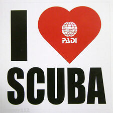 "Scuba Diving PADI Sticker Decal - 'I (Love / Heart) Scuba' - 3"" x 3"""