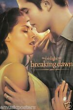 "TWILIGHT ""BREAKING DAWN - EDWARD HOLDING BELLA"" MOVIE POSTER - Pattinson,Stewart"