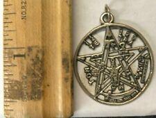 Vintage Silver Jewelry Pendent- Pentagram Circle J2 4.0g