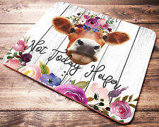FUNNY Quote Cow Mouse Pad Not Today Heifer Farm Animals Womens Desk Accessories
