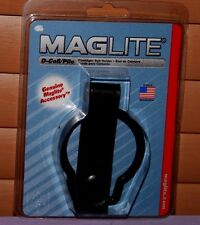 Genuine MAGLITE ASXD036 D-Cell Flashlight Belt Holder Plain Leather- New Sealed