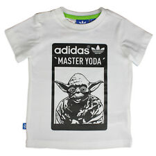 Adidas Originals Star Wars Master Yoda Jedi Maestro Kids Camiseta Blanco