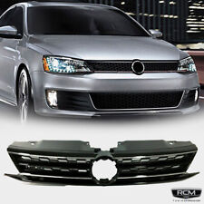 Fits For Volkswagen Jetta Front Grill Honeycomb Chrome Trim Black Grille