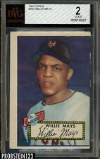 "1952 Topps #261 Willie Mays Giants HOF BVG 2 Good "" Iconic Card """