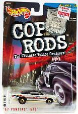 Hot Wheels Cop Rods '67 Pontiac GTO Atlanta GA Police Cruiser 1/64 New 1999