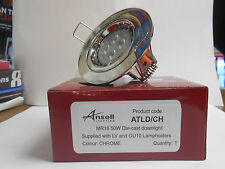 Ansell Cast Twistlock Polished Chrome Downlight 50w GU10/MR16 Fixed home light