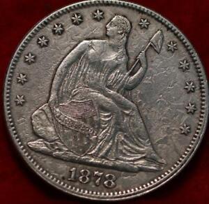 1878 Philadelphia Mint Silver Seated Half Dollar