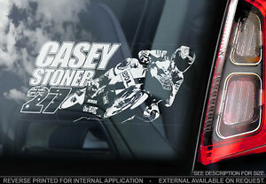 Casey Stoner #27 - Car Window Sticker - MotoGP Superbike Motorcycle Decal - V01