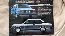 FIAT Brava 131 car sales brochure small poster