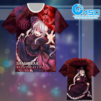 Anime T shirt Overlord shalltear bloodfallen Unisex Summer Short Casual Tee Tops