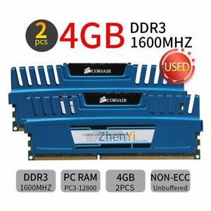 8GB 2x4GB 1600MHz DDR3 CL9 PC3-12800 DIMM Desktop Memory SDRAM Corsair Vengeance