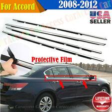 For Accord 2008-2012 4pcs Chrome Weatherstrip Window Moulding Trim Seal Belt