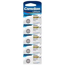 Blister 5 piles bouton Camelion lithium CR1225/5020LC/E-CR1220 3V