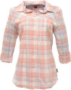 Regatta Starbright Womens Longer Long Sleeve Blouse Check Shirt Top RRP £30