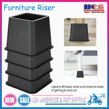4Pcs Bed and Furniture Risers 3' Heavy Duty Bed Lifts for Sofa Couch Chair Us