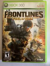 FRONTLINES FUEL OF WAR - XBOX 360 - COMPLETE W/MANUAL - FREE S/H - (T1)