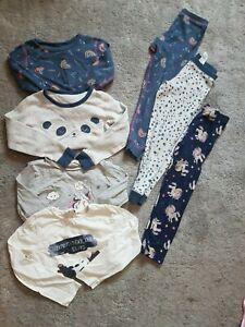 GIRLS age 4-5 years pyjamas bundle, 3 pairs