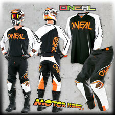 Pantaloni Moto Off-road O'neal Mayhem Lite Pants Blocker Black/white/orange 36/5