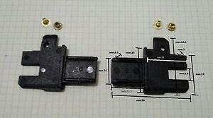 Zanzariere,1 kit-Scivoli per guide + rivetti, per zanzariera a molla o catenella