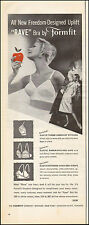 """1958 Vintage ad for Formfit """"Rave"""" bra sexy Model red apple  080517"""