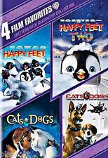 4 Film Favorites Critters With Character DVD 4 Disc Collection, Happy Feet, Cats