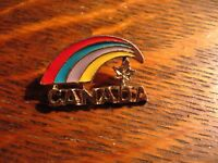 Canada Rainbow Lapel Pin - Canadian Maple Leaf Gay Pride Jacket LGBT Hat Pin