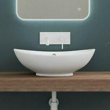 doporro Waschbecken Waschtische aus Keramik Aufsatzwaschbecken inkl Nano / Lotus