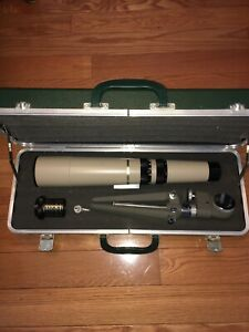 """Vintage Bausch + Lomb """"Discoverer"""" 60 mm Telescope,Bushnell Tripod And Case"""