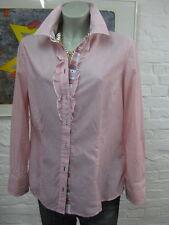 S.OLIVER SELECTION schöne luftige Bluse Hemd Gr.42 Weiß Rosa gestreift,Klassisch