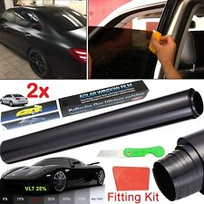 2x Window Tint Film Tinting Home Car Dark Black Smoke Limo 25% Roll 50CMx3M Kit