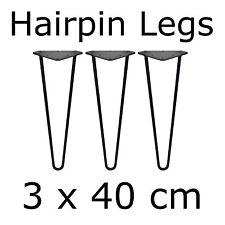 3 x 40 cm Tischbeine Tischkufen Tischgestell Couchtisch Hairpin Legs Baumscheibe