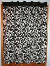 Zebra Print Shower Curtain Brown Cream Cotton Weave Fabric Karen Neuburger Home