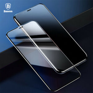 2PCS For iPhone 12 11 Pro Max X BASEUS 3D Curved Tempered Glass Screen Protector