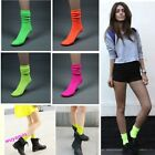 New Candy Color Cotton Hosiery Fluorescent Natural Curling Neon Socks 5 Colors