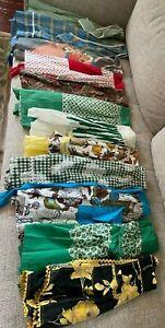 VTG Midcentury Apron Lot Full Half Handmade+Carmen Lee Cotton Organza Rickrack