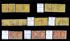 Canada #35/41 used F/VF 1870/1888 Queen Victoria Small Queen Multiples CDS