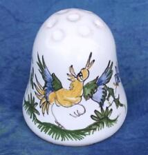 Dé à coudre céramique peint main en FAIENCE DE MOUSTIERS a Thimble