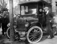 "1920 Car Wreck, 6th & H, Washington, DC Old Photo 8.5"" x 11"" Reprint"