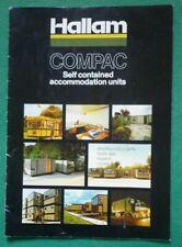 VINTAGE HALLAM COMPAC BROCHURE 1970s (PRE FAB CABIN UNIT) LINCPAC AA NOTTINGHAM