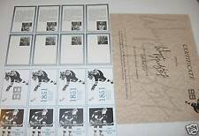 1990-91 Wayne Gretzky Fan Club Uncut  Proof Sheet, etc.