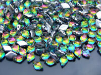 10g Czech GemDuo Twin Hole Beads 8x5mm Backlit Utopia