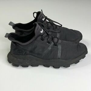 Timberland Mens Brooklyn Canvas Trainers Lightweight Casual Size 9 Black A1YZH