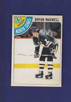 Bryan Maxwell 1978-79 O-PEE-CHEE OPC Hockey #216 (NM) Minnesota North Stars