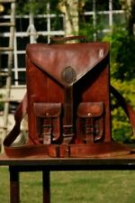 New Genuine Leather Back Pack Rucksack Travel Squre Bag For Men's and Women's