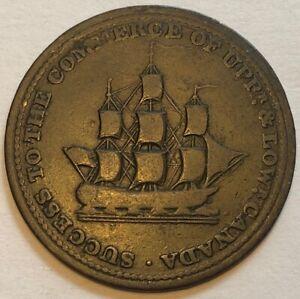 UPPER CANADA: 1/2 penny token 1812, Sir Isaac Brook Bart