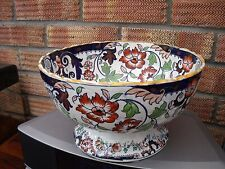 Amherst Japan Bowl most likely Mintons/Masons c1845 ~ Footed Bowl Japan Pattern.